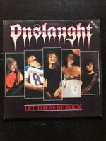 LP 33 GIRI ONSLAUGHT LET THERE BE ROCK 1987