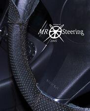 Se adapta a Mercedes Clase C W203 Cubierta del Volante Cuero Perforado doble puntada
