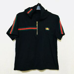 Hoodie Cotton Top With Red And Green Trim