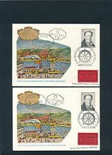 DDSG-Schiffspost 1965 Schiff Schönbrunn auf Express-Karte+Brief  11/5/15