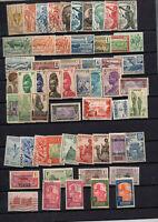 57 timbres anciennes colonies : Cameroun Dahomey Gabon etc ... avant independanc