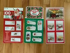 Lot of 120+ Vintage Christmas Gift Tags - 3 Different Packs - CLEO & Eureka