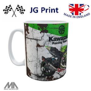 Kawasaki inspired motorbike World Superbike Moto GP mug design