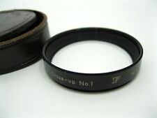 Nikon Nikkor F Close-up No. 1 lens. 52mm therad with leather case.