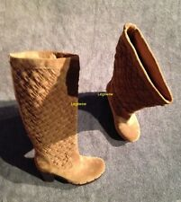 "UGG Australia Brown 17 "" Arroyo Boots 4"" Heel Knee High Boots Womens 6 Lamb New"