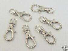 50 Mini Silver Metal Swivel Lobster Clasps Clips H49-50