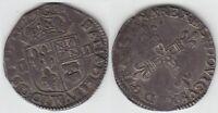 gertbrolen Louis XIII Quart d' écu argent  de Navarre-Béarn  1615 Pau Numéro 2