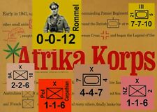 Variant Counters & More Afrika Korps (Avalon Hill), National ColorsNew Map Art!
