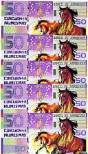 LOT Kamberra, POLYMER, 5 x 50 Numismas, China Lunar Year 2014, UNC > Horse