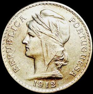 PORTUGAL - 50 CENTAVOS 1912 - SILVER COIN - LIBERTY HEAD  #A35