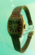 Seiko Women's clssic hammered face mesh metal bracelet good shape untested