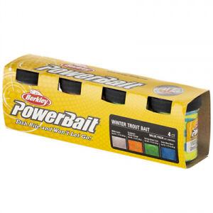 Berkley PowerBait Jar Trout Season Pack 4pk (All Flavours) *New* - Free Delivery