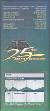 American Trans Air ticket jacket wallet 25th rev 12/99 [6124] Buy 4+ save 50%