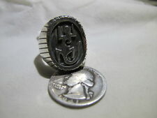 Navajo Mens Sterling Silver Gecko Ring Size 11.5 Stunning Handmade Wow Ray Jack