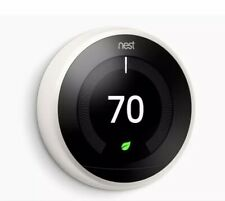 Google Nest Learning Thermostat T3017US 3rd Generation Wi-Fi Smart WHITE *NEW*