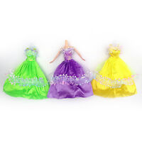 Fashion Princess Party Dress Wedding Clothes/Gown For Doll Girls 5Pcs/Set