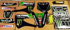 Kx 85 99-13 Kawasaki Graphics Kit Free Pro Taper Pad and Troylee Grip 16