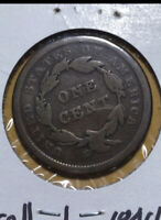 Lot 612 1840 Braided Hair Large Cent