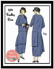 1920s Travelling Dress  Sewing Pattern - Flapper - Downton