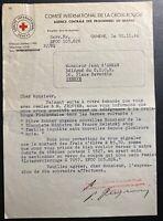 1944 Geneva Switzerland Red Cross Agency Letter Cover