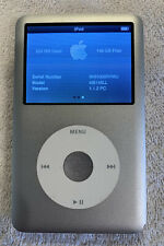 apple ipod classic 6th generation Silver 160gb with metal case bundle