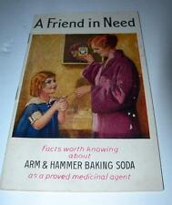 """VINTAGE ARM & HAMMER BAKING SODA 1930  """"FACTS WORTH KNOWING ABOUT"""""""