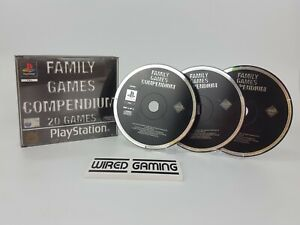 Family Games Compendium - PS1 (Sony Playstation 1) (PAL) Black Label - NO MANUAL