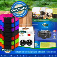 PetSafe PUL-275 In-Ground Ultralight Dog Fence Collar w/ Batteries & FREE STRAP