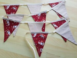 Brand New Large CHRISTMAS Double Sided Fabric Bunting (6)