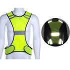 Safety High Visibility  Reflective Vest Security Gear Stripes Jacket Night Work