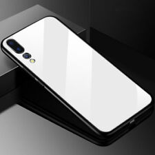 Tempered Glass Back Case for Huawei P20 Plus/Lite TPU Bumper Hybrid Cover Shell