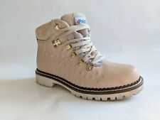 Pajar Women's Linda Lace Up Hiking Winter Boots Leather Beige Italy US 5.5 EU 36