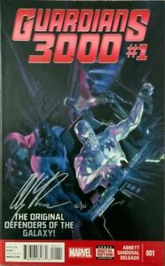 GUARDIANS 3000 #1 SIGNED IN SILVER BY ALEX ROSS WITH COA NM.