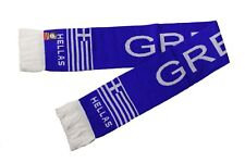 Greece Hellas Blue Country Flag Logo Thick Scarf.Viva Souvenirs.New