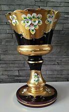 Czech bohemia glass Egermann - Purple vase 30cm decorated gold