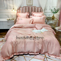 Egyptian Cotton Bedding Set Embroidery Bed Set Duvet Cover Bed Sheet Bed Linen