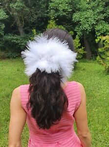 Unique Marabou Feathers Scrunchies, Hair Tie, Hair Elastic, Fluffy Feathers