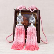 2pcs One Pair Curtain Holdbacks Rope Tie Backs Tassel Tieback Beaded Ball Decor#
