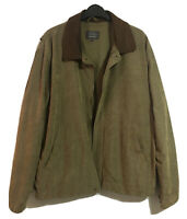 "ARMANDO 90s Mens Sz L P2P 50"" Softshell Jacket Blouson Car Coat Leather Collar"