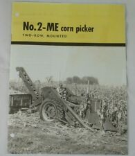 Ih International Farmall Mccormick 2 Me 2 Row Corn Mounted Picker Brochure M Sm