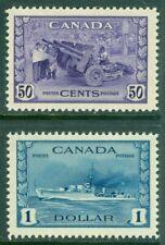 EDW1949SELL : CANADA 1942 Scott #261-62 Very Fine-Extra fine, Mint NH. Cat