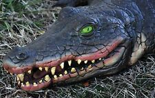 Realistic 4-Ft Long SWAMP ALLIGATOR PROP Vinyl Foam Luau Pirate Party Decoration