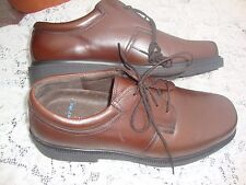 NICE Men's Hush Puppies Float Fx Leather Oxford Shoes Cognac Brown SIzE 13