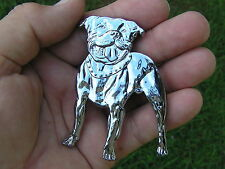 UK ~ STAFFORDSHIRE BULL TERRIER DOG BADGE Chrome Emblem *NEW suit Car Motorcycle