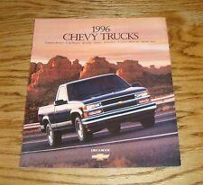 Original 1996 Chevrolet Truck Full Line Sales Brochure 96 Blazer Pickup