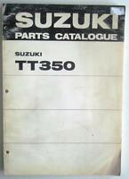 SUZUKI TT350 Illustrated Motorcycle Parts Catalogue/ List  Nov 1971 #99000-91610
