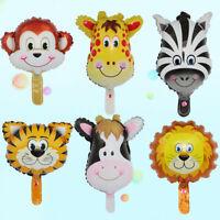 1X Animal Head Foil Balloons Safari Zoo Air Ballon Baby Shower Decor Kids Gifts