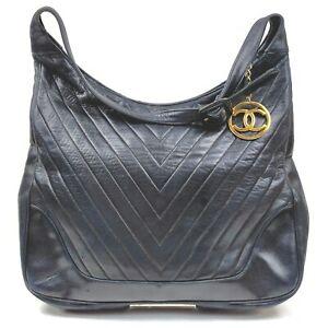 Chanel Shoulder Bag  Black Leather 1510520