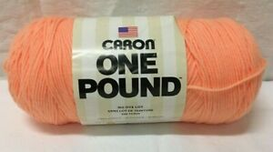 NEW! Caron ONE POUND Skein - Color Peach 0504 Acrylic