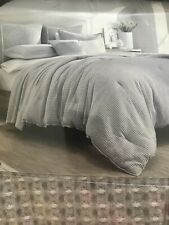 Nautica King comforter set, ballastone gray with 2 King Shams Cotton Gray